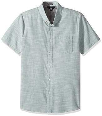 Volcom Men's Everett Oxford Modern Fit Woven Short Sleeve Shirt