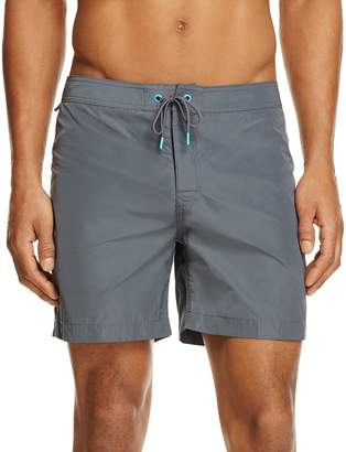SUNDEK Fixed Waistband Mid Length Board Shorts $118 thestylecure.com