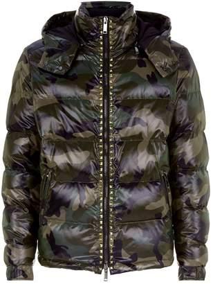 Valentino Camo Puffer Jacket