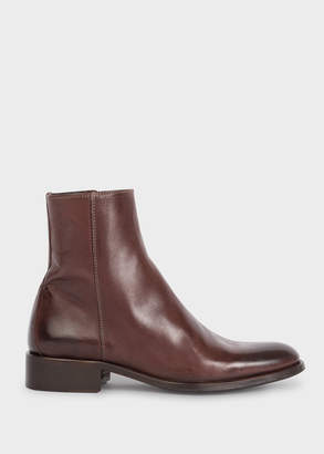 Paul Smith Women's Dark Brown Leather 'Adalia' Ankle Boots