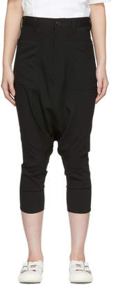 Y's Ys Black Tropical Wool K-Sarouel Trousers