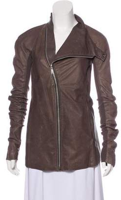Rick Owens Long Sleeve Leather Jacket