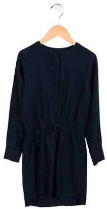 Vince Girls' Casual Long Sleeve Dress