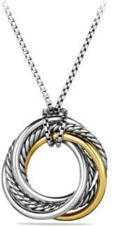 David Yurman Women's Crossover Small Pendant With Gold - Silver Gold