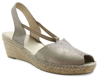 Andre Assous Dainty Fabric Espadrille Wedge Sandals $169 thestylecure.com