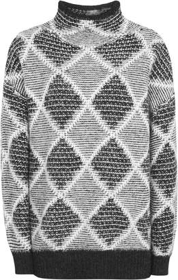 Reiss Sophie - Patterned Jumper in Black/White