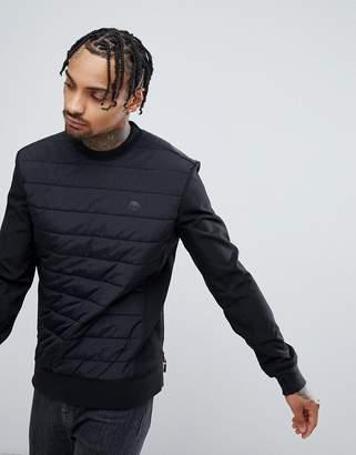 Timberland Quilted Crew Neck Sweatshirt in Black