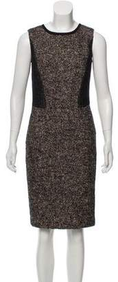 Magaschoni Tweed Knee-Length Dress