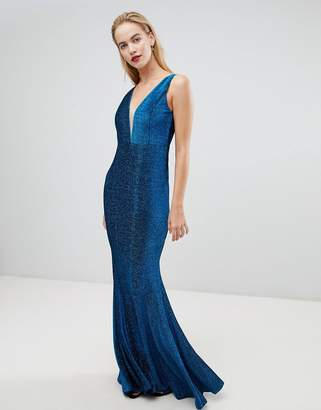 Forever Unique Plunge Front Maxi Dress