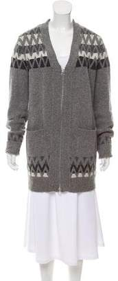 3.1 Phillip Lim Wool Knit Zip-Up Cardigan