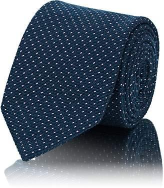 Brioni Men's Polka Dot Silk-Blend Jacquard Necktie