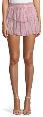 LoveShackFancy Tiered Ruffle Mini Skirt