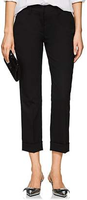 Prada Women's Wool Straight Cuffed Trousers - Black