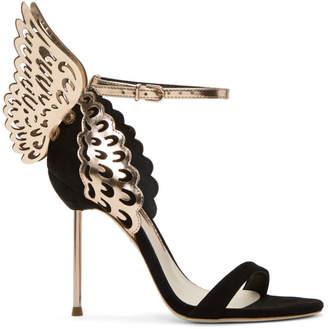 Sophia Webster Black Suede Evangeline Sandals