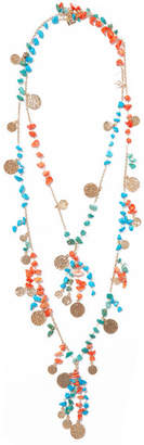 Rosantica Vento Gold-tone Beaded Necklace - Blue