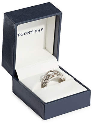 LeVian LE VIAN 1.07 TCW Vanilla and Chocolate Diamonds and 14K White Gold Ring