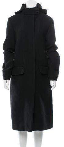 Chloé Chloé Virgin Wool Hooded Coat