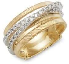 Marco Bicego 18K Yellow Gold Diamond Goa Stack Ring