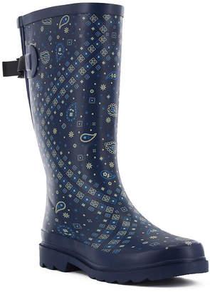 Western Chief Womens Bandana Vari-Fit Rain Boots Waterproof