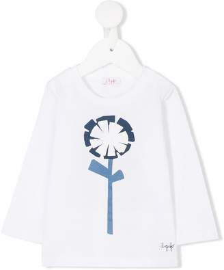 Il Gufo graphic floral T-shirt