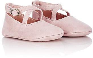Emmy London Mimi Crisscross-Strap Flats - Pink
