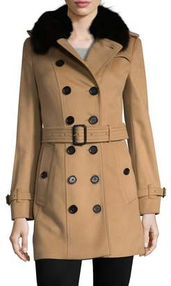 Burberry Women's Spread Collar Wool-blend Coat