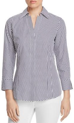 Foxcroft Taylor Polka Dot Non-Iron Shirt $89 thestylecure.com