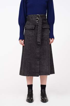 Sea Noir Denim Skirt