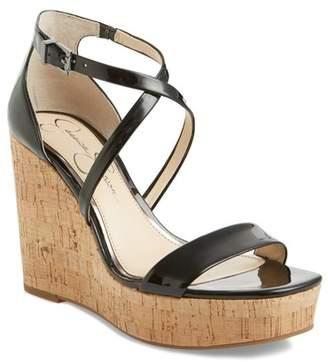 Jessica Simpson Stassi Cross Strap Wedge Sandal (Women)