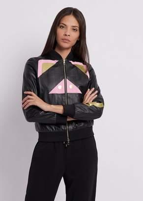 Emporio Armani Chinese New Year Leather Bomber Jacket