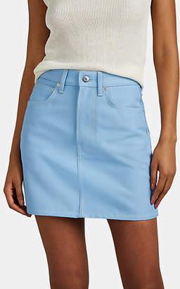 Helmut Lang Women's Denim High-Rise Miniskirt - Lt. Blue