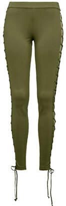 Fenty Puma by Rihanna Lace-Up Stretch-Knit Leggings, Green $140 thestylecure.com