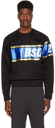 DSQUARED2 Black Shiny Logo Sweatshirt