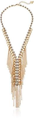 GUESS Fringe Layer Y Shaped Necklace