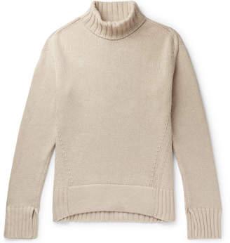Joseph Sloppy Joe Oversized Ribbed Cotton-Blend Rollneck Sweater - Men - Ecru