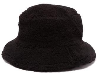 Federica Moretti Fleece Bucket Hat - Womens - Black