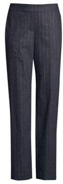Lafayette 148 New York Women's Metallic Stripe Trousers - Ink Melange - Size Medium