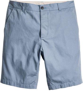 H&M - Knee-length Cotton Shorts - Blue