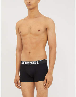 Pack of three branded stretch-cotton trunks