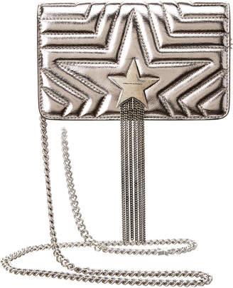 Stella McCartney Small Stella Star Metallic Shoulder Bag