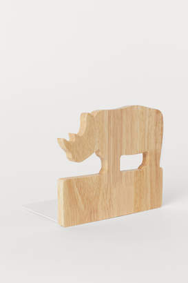 H&M Wood and Metal Bookend - White