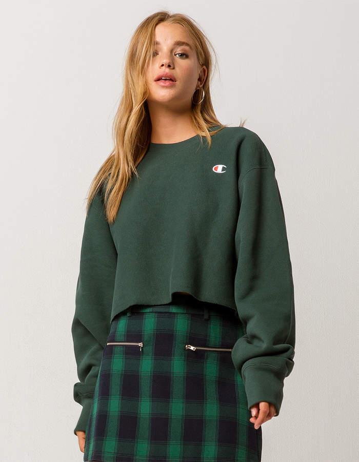 Champion Reverse Weave Womens Crop Sweatshirt