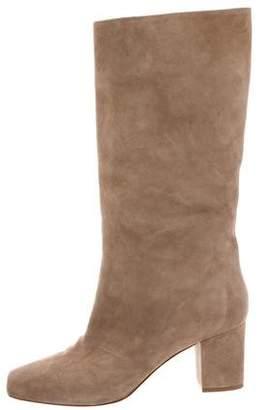 Ralph Lauren Square-Toe Suede Boots