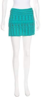 Gryphon Beaded Mini Skirt