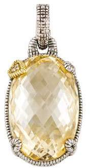 Judith Ripka Canary Crystal & Diamond Pendant