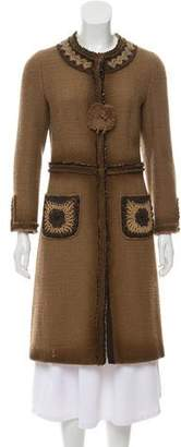 Prada Wool Embellished Coat