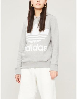 adidas Logo-print cotton-jersey hoody