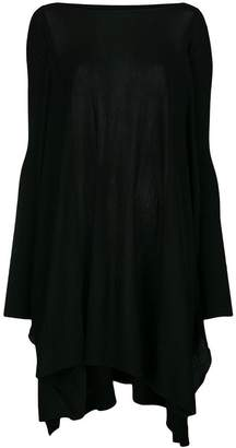 Rick Owens draped asymmetric loose jumper
