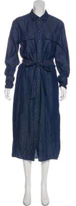 Equipment Chambray Maxi Dress
