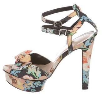Loeffler Randall x Tucker Floral Platform Sandals
